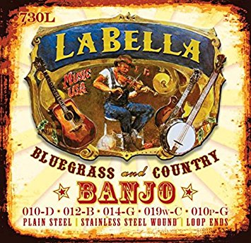 LaBella 730L Loop End Banjo Strings - Light - Jakes Main Street Music