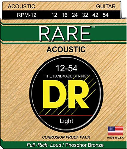 DR Strings RPM-12 12-54 Phosphor Bronze Light - Jakes Main Street Music