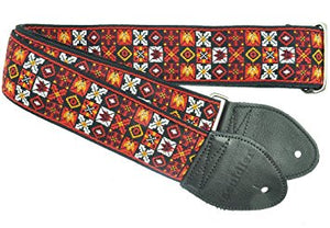 Souldier Guitar Strap:  Woodstock - Red - Jakes Main Street Music