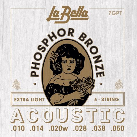 LaBella Extra Light Phosphor/Bronze Guitar Strings 7GPT