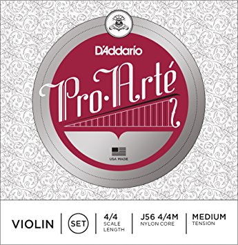 D'Addario J56 Pro-Arte Violin Strings - 4/4 - Medium Tension - Jakes Main Street Music