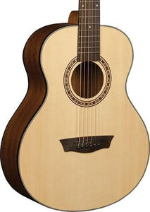 Washburn USM-AGM5K-A G-Mini Guitar - Natural - Jakes Main Street Music