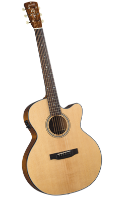 Blueridge BR-45CE Contemporary Series Medium Jumbo Cutaway w/pickup - Jakes Main Street Music