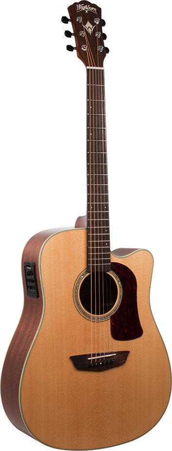 Washburn All Solid Dreadnaught Cutaway w/Torrefied Top HD100SWCEK-D - Jakes Main Street Music