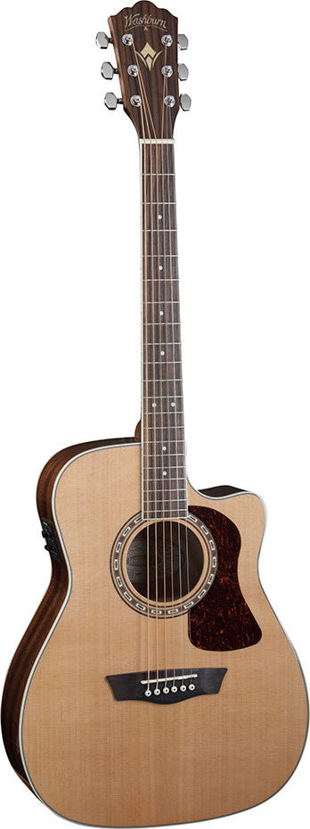 Washburn Heritage Series Solid Top Cutaway Acoustic/Electric Guitar HF11SCE - Jakes Main Street Music