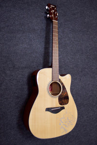 Yamaha FGX700SC Cutaway Acoustic Electric Guitar (2015) - Jakes Main Street Music