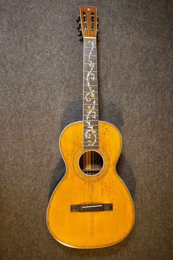 Harmony Sovereign Parlor Guitar c. 1916 - Jakes Main Street Music