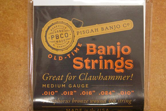 Pisgah Clawhammer Banjo Strings .10 to .24 - Jakes Main Street Music