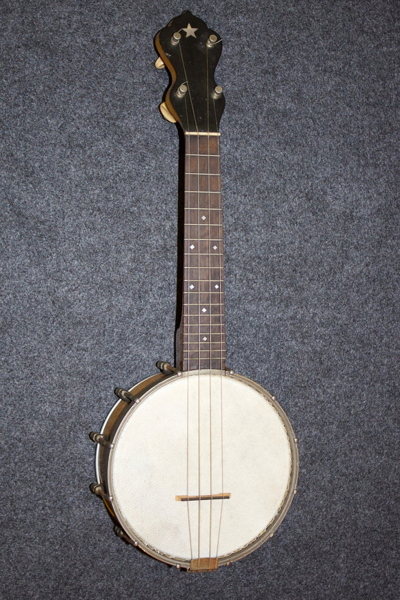 Vintage Maple Pot Banjo Uke (Slingerland?) with Elton Metal Resonator c. 1930 - Jakes Main Street Music