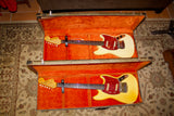 Two 1965 Fender Mustangs, Cream