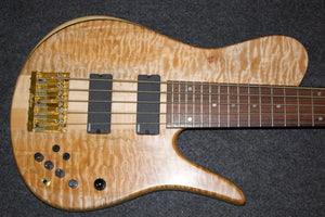 Fodera matt garrison model quilted maple 5 string bass