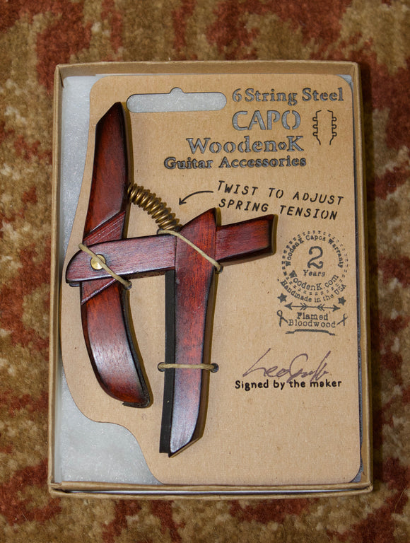 Wooden K Hand Made Wooden Capo