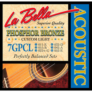 LaBella 7GPCL Phos. Bronze Acoustic Strings - Custom Light - Jakes Main Street Music