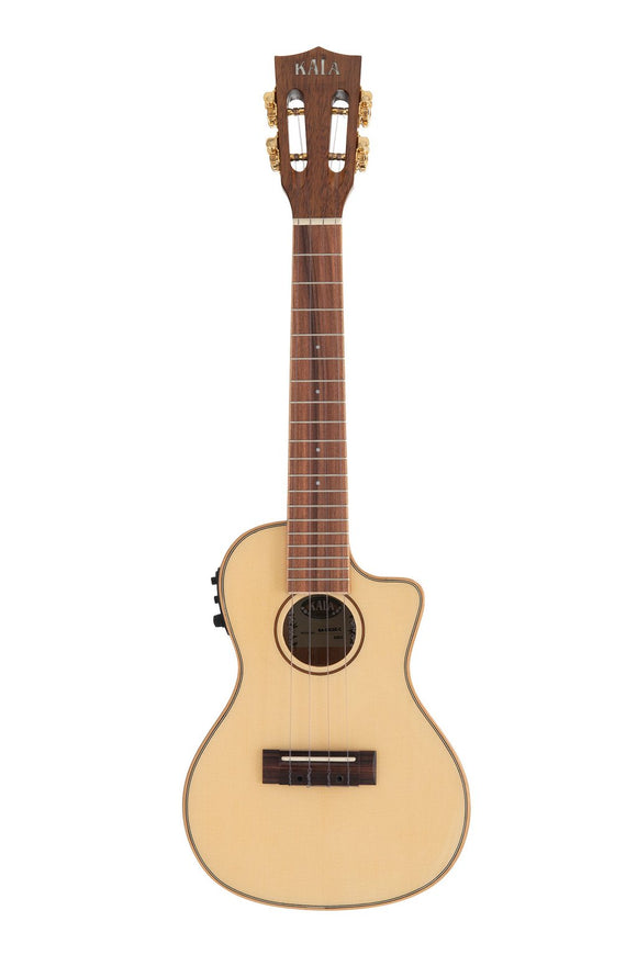 Kala SKCGE-C Solid Spruce Tup with Koa Sides/Back Concert Cutaway w/Pickup