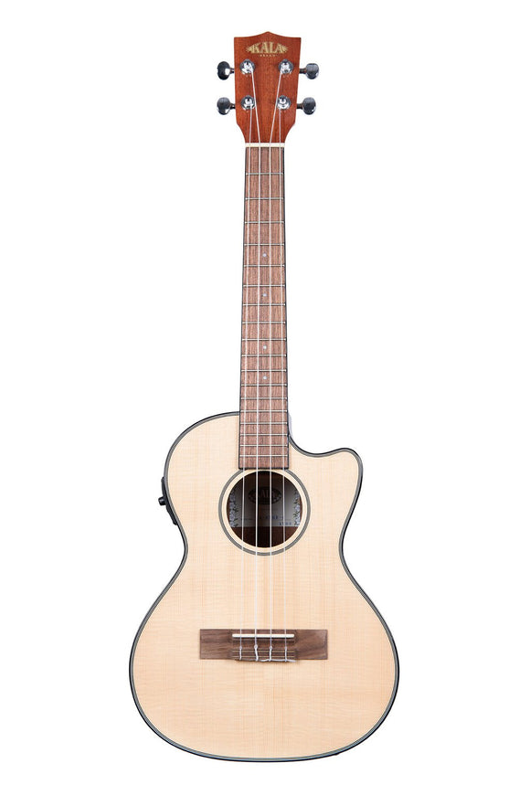 Kalas Solid Gloss Spruce Concert Ukulele with Cutaway and Pickup