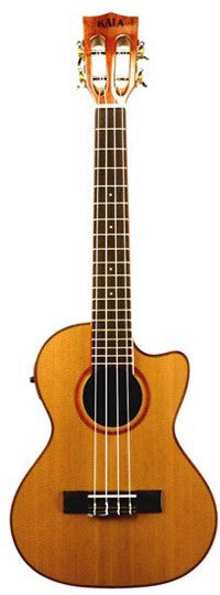 Kala Cedar Top/Acacia Tenor Uke- Cutaway with Pickup - Jakes Main Street Music