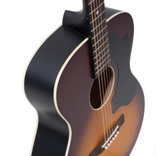 "Load image into Gallery viewer, Recording King ROS-9-TS, Solid-Top ""000"" Guitar in Sunburst"