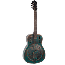 "Load image into Gallery viewer, Recording King RM-997-VG ""Swamp Dog"" Resonator in Distressed Copper"