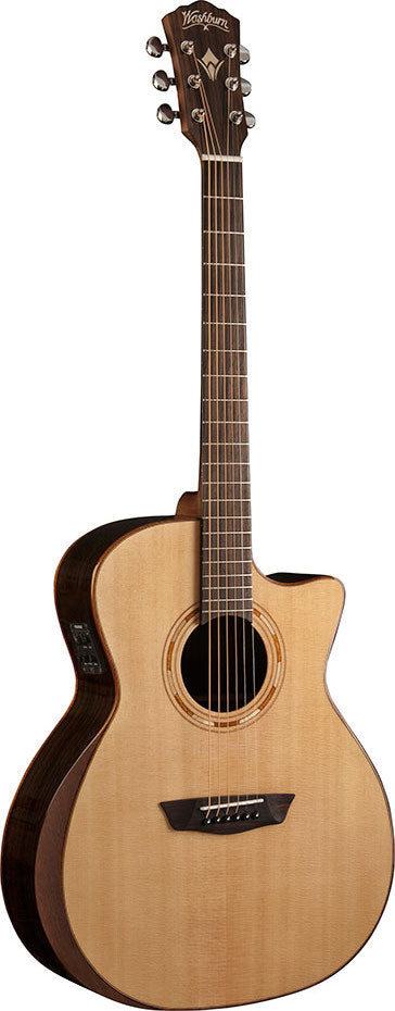 Washburn Comfort Series Grand Auditorium Cutaway with Pickup WCG20SCE - Jakes Main Street Music