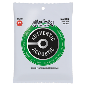 "Martin Authentic Acoustic 80/20 Bronze ""Silked"" Acoustic Guitar Strings - Jakes Main Street Music"