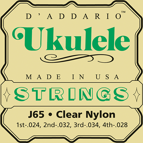 D'Addario J65 Clear Nylon Ukulele Strings - Medium - Jakes Main Street Music