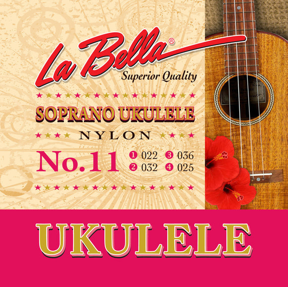 LaBella No.11 Soprano Ukulele Strings - Clear Nylon - Jakes Main Street Music