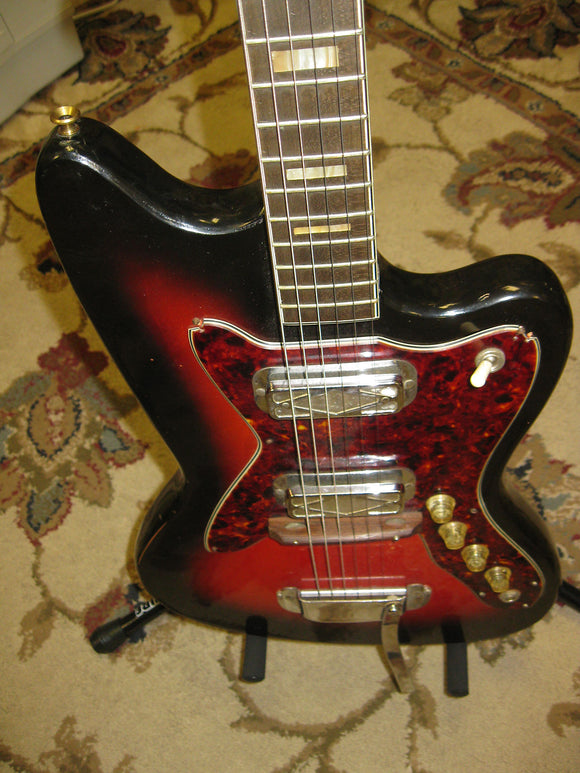 1960's Silvertone 1478 - Red Sunburst - Jakes Main Street Music