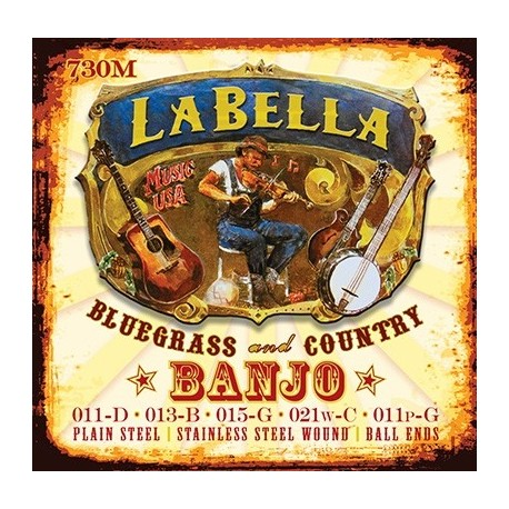 LaBella 730M Loop End Banjo Strings - Medium - Jakes Main Street Music
