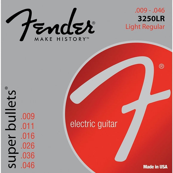 Fender 3250LR Nickel-Plated Steel Bullet-End Electric Guitar Strings - Light - Jakes Main Street Music