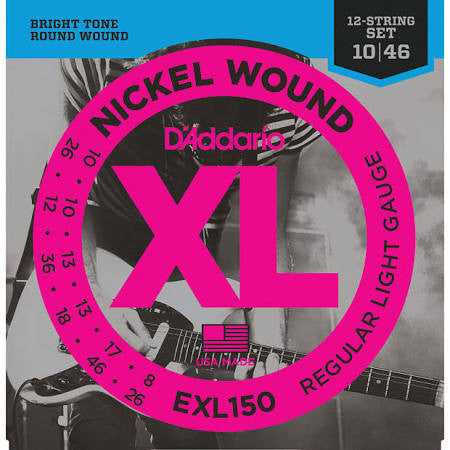 D'Addario XL150 Electric 12-String Light Gauge - Jakes Main Street Music