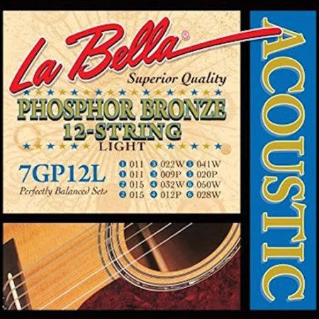 LaBella 7GP-12L PB Acoustic Guitar 12-String - Light - Jakes Main Street Music