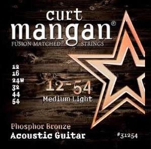 Curt Mangan Phosphor Bronze Acoustic Strings - Medium Light - Jakes Main Street Music