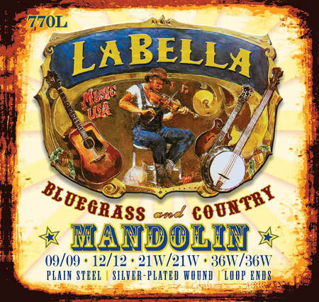 LaBella 770L Light Mandolin Strings .09 - .36