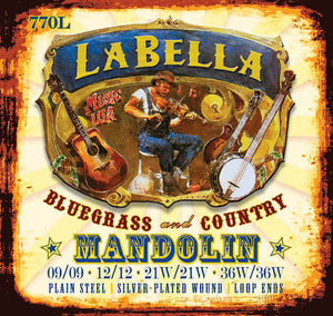 LaBella 770L Light Mandolin Strings .09 - .36 - Jakes Main Street Music