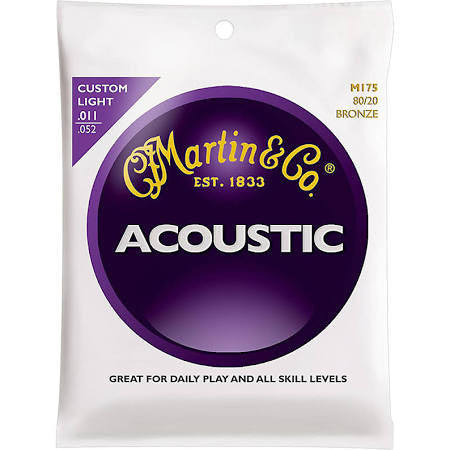 Martin M175 Custom Light 80/20 Bronze Guitar Strings - Jakes Main Street Music