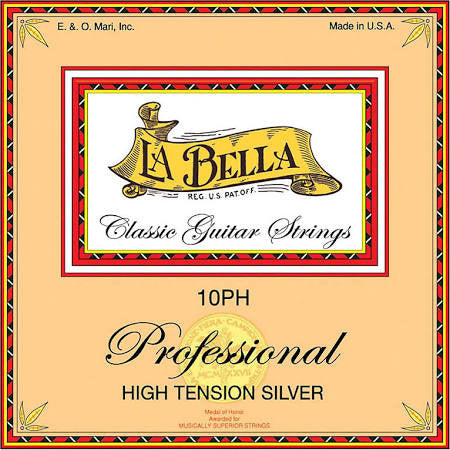 LaBella 10PH High Tension Silver Nylon Classical Guitar Strings - Jakes Main Street Music
