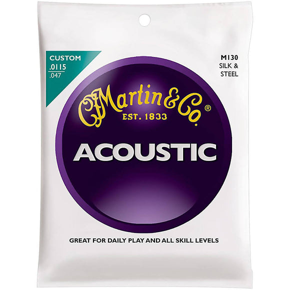 Martin M130 Silk and Steel Acoustic Guitar Strings - Custom - Jakes Main Street Music