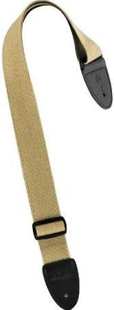 Union Station 30KH Cotton Guitar Strap - Khaki - Jakes Main Street Music