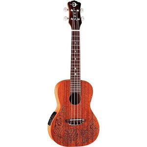 "Luna ""Lizard"" MO'O Electric Concert Ukulele with Pickup - UKEMOEL - Jakes Main Street Music"