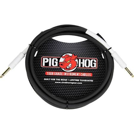 Pig Hog 6' Tour Grade Black Rubber Instrument Cable  - PH6 - Jakes Main Street Music