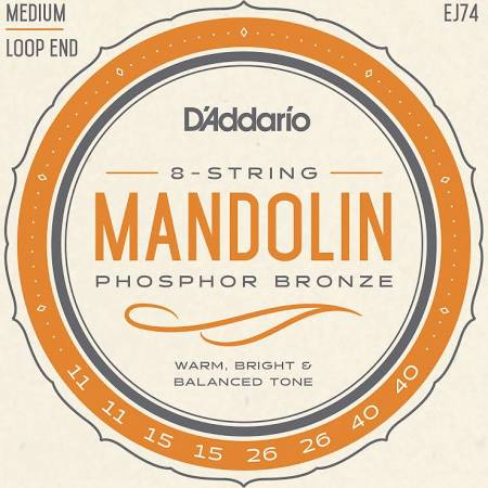 D'Addario EJ74 Medium Gauge Mandolin Strings - Jakes Main Street Music