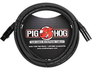 Pig Hog 10' Tour Grade 8 mm Microphone Cable - PHM10 - Jakes Main Street Music