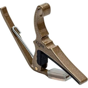 Kyser KG6GA Quick-Change Guitar Capo for 6 string Guitar - Gold - Jakes Main Street Music