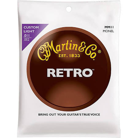Martin MM11 Retro Acoustic Guitar Strings - Custom-Light - Jakes Main Street Music