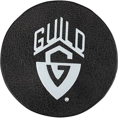 Guild Leather Coaster with Silver Logo - Jakes Main Street Music