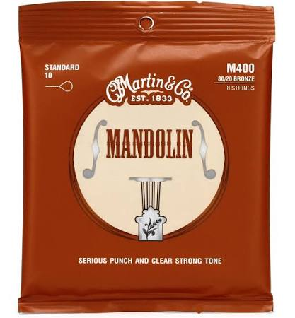 Martin M400 Mandolin Strings Standard Gauge 10-34 - Jakes Main Street Music