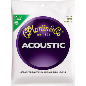 Martin M170 80/20 Bronze Acoustic Strings - Extra Light - Jakes Main Street Music
