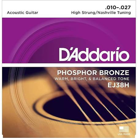 D'Addario EJ38H High Nashville Tuning Guitar Strings - Jakes Main Street Music