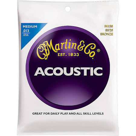 Martin M150 80/20 Acoustic Guitar Strings - Medium - Jakes Main Street Music