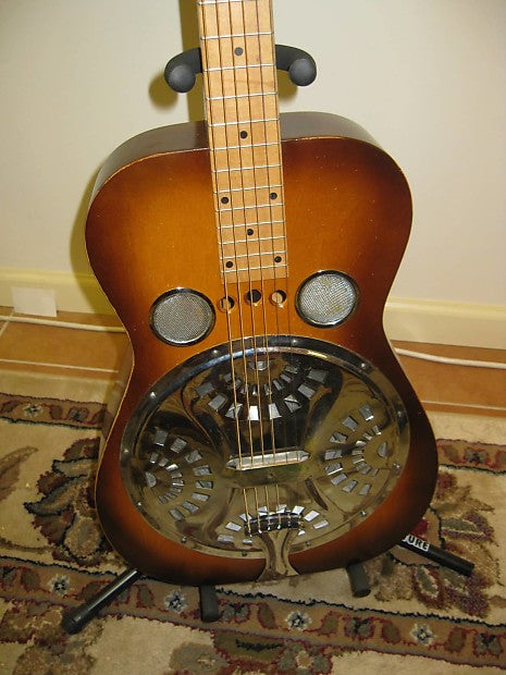 1990 Dobro Hounddog Square-Neck Slide Guitar - Jakes Main Street Music